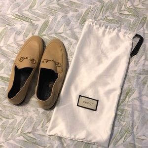 GUCCI Brixton Leather Loafer-Tan